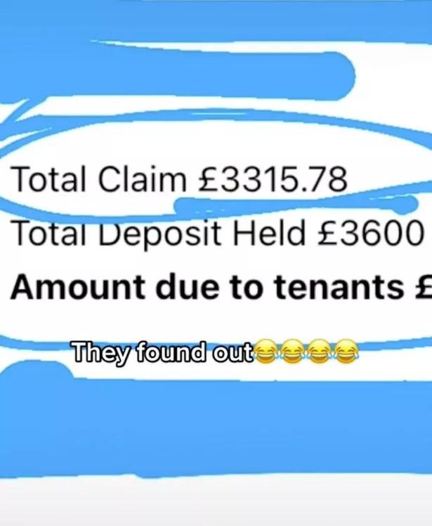 screenshot of invoice