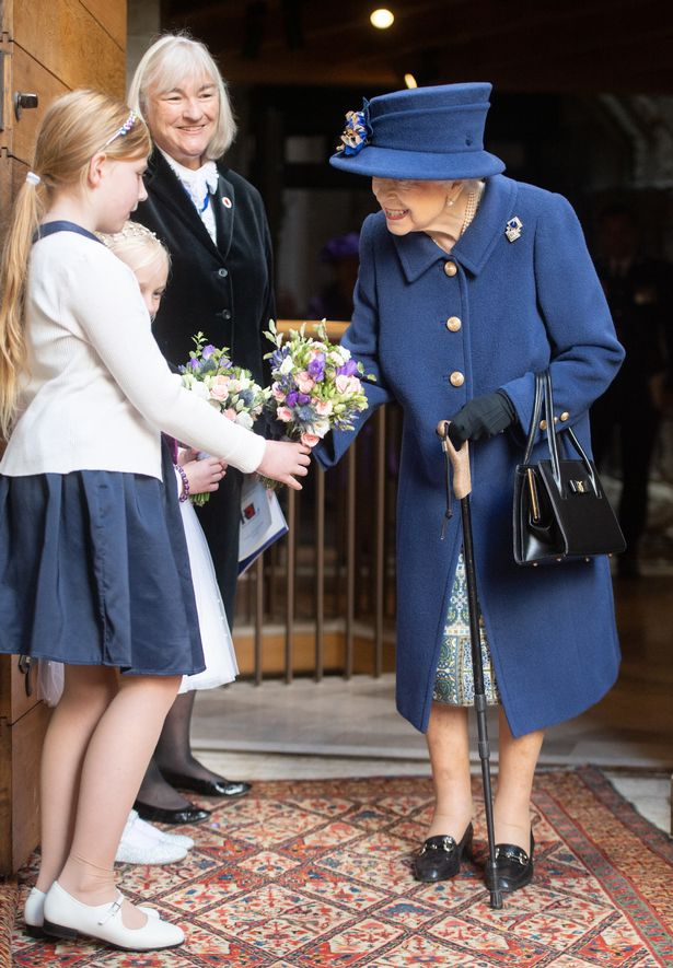 Queen Elizabeth II also took a shorter route to her seat