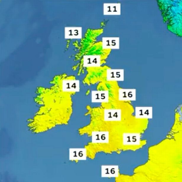 The temperatures will be in double figures today but this could change quickly