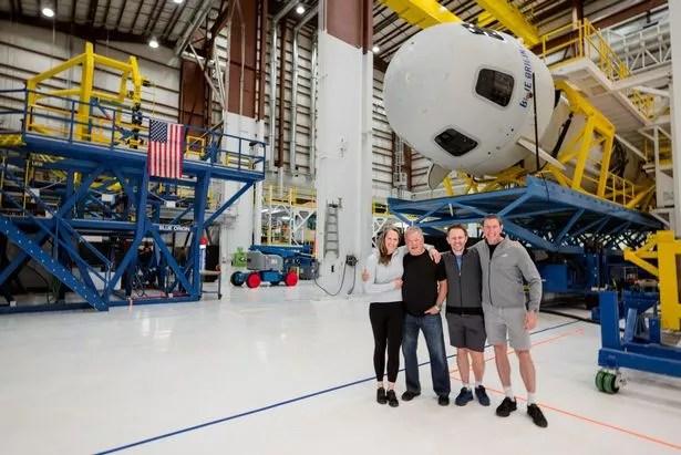 William Shatner with fellow crew members Glen de Vries, Chris Boshuizen and Audrey Powers