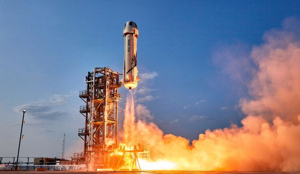 Blue Origin first human flight New Shepard launch Jeff Bezos https://www.blueorigin.com/news/gallery