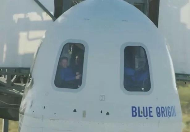 caption: Blue Origin Launch live: William Shatner becomes oldest ever spaceman
