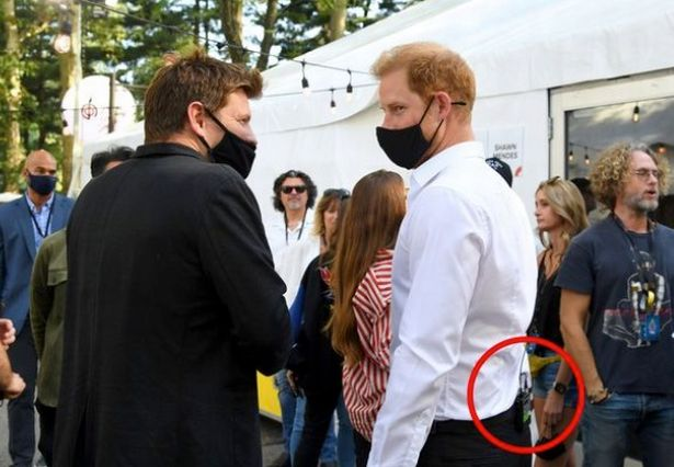 Prince Harry had a microphone with him