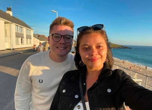 Alex Melling (with girlfriend Victoria) was shocked when he hear about the bottle