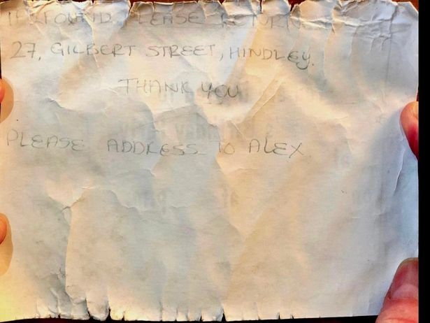 The note survived 24 years at sea