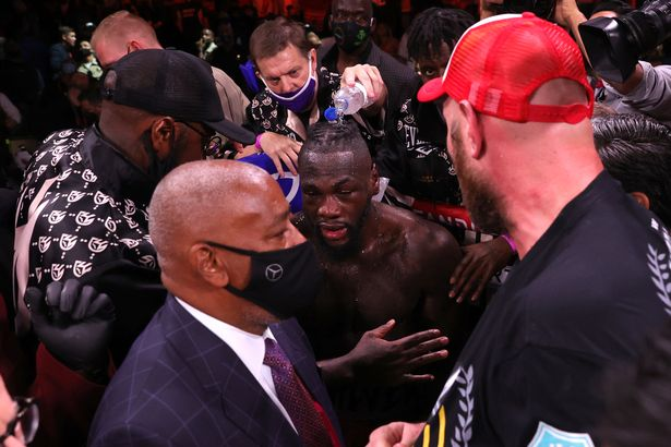 Deontay Wilder and Tyson Fury were embroiled in a heated argument after 'The Gypsy King's' victory