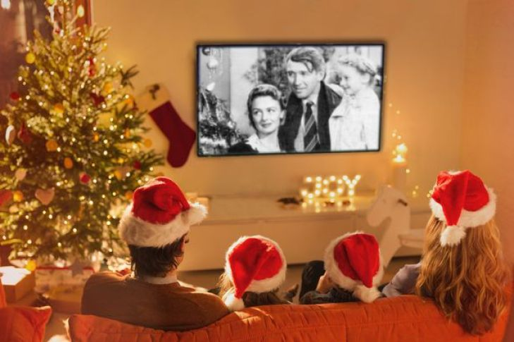 Watching your favorite Christmas movies