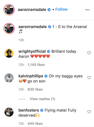 Ian Wright and Kalvin Phillips react to Aaron Ramsdale's display against Burnley
