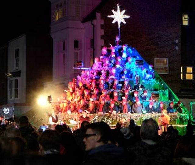 Launch Of Stockton Sparkles And Christmas Light Switch On In Stockton Town Centre The Singing Christmas Tree