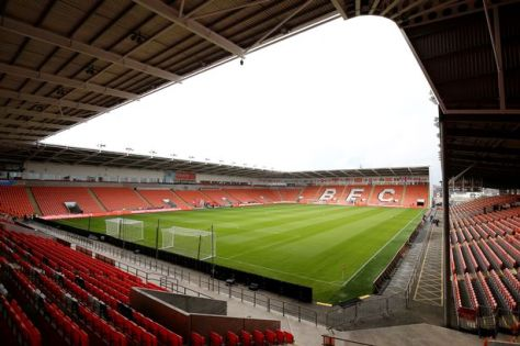 The home of Blackpool FC, Bloomfield Road