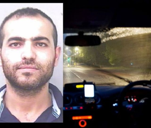 Mounir Megherbi Sexually Assaulting A Woman Who Hailed Him Believing He Was A Taxi Driver In Grimsby Image Humberside Police Getty