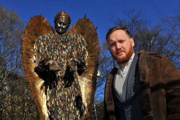 Alfie Bradley designed and made the Knife Angel