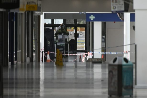 Police cordoned off entrance to North Point shopping center after reports of battering ram