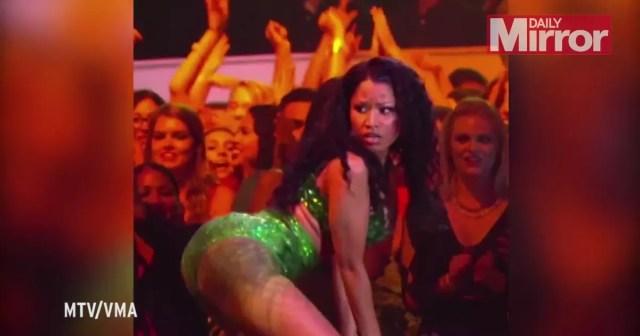 Mtv Vmas 2014 Watch Nicki Minajs Raunchy Twerktastic Performance Of Anaconda Irish Mirror Online