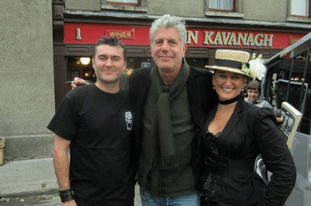 Anthony bourdain at Kavanaghs, Dublin