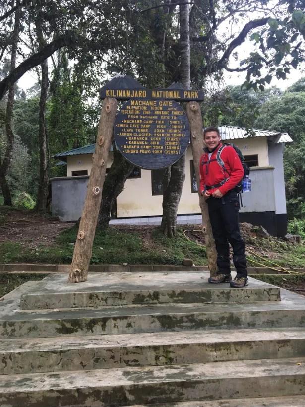 Wayne Skinner at Mount Kilimanjaro