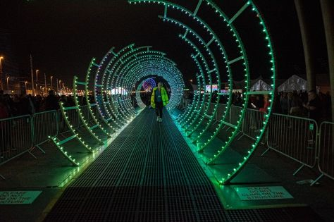 One of the Lightpool festival's attractions in Blackpool