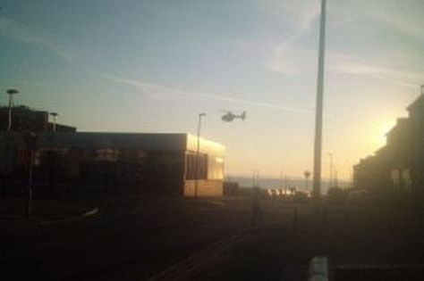 The air ambulance was seen arriving at the scene