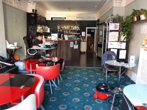 Entrance into the Hayward Hotel leads into the bar which caters for approximately 22.