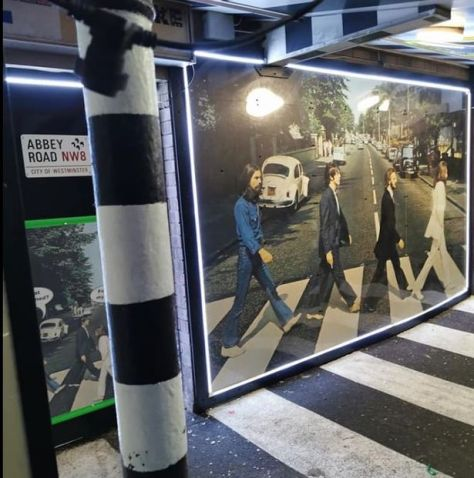 Abbey Road entrance to Yellow Submarine pub on South Shore in Blackpool