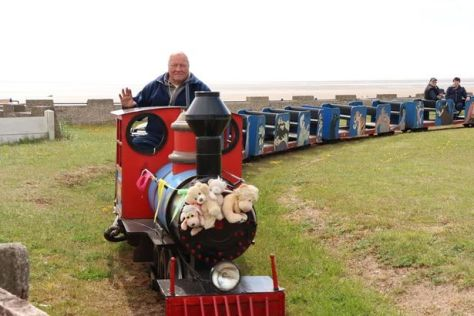 """Stan operating """"Harry's Dream"""" at St Anne's miniature railway"""