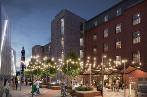 An artist's impression of Blackpool Central's 'heritage quarter'