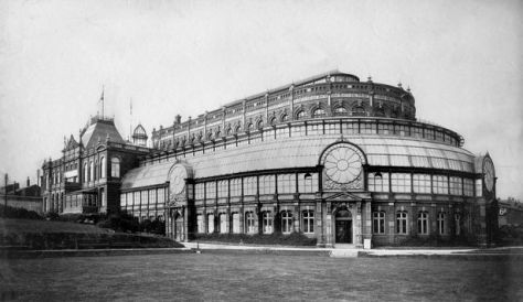 The first known image of Blackpool Winter Gardens in 1890
