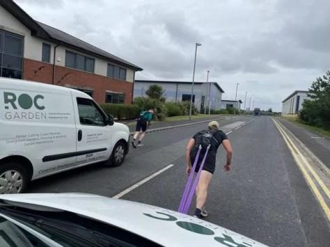 James and John practising pulling ROC Garden vans