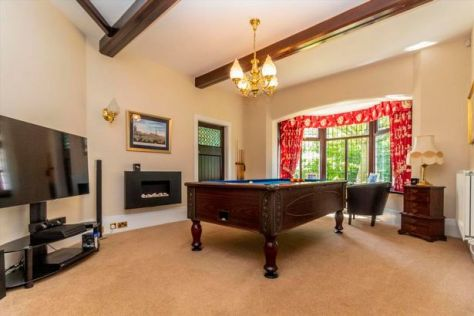 Games Room with bay windows