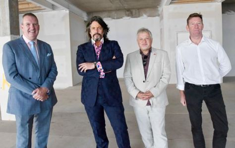 Left to right; Michael Conlon, Chairman of Conlon Construction Ltd; Laurence Llewelyn-Bowen, Chairman of Blackpool Museum Trust; Alan Cavill, Director of Communications and Regeneration for Blackpool Council and Marcus Walker, Director at Coolsilk Property and Investment Ltd