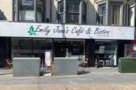 Emily Jane's Cafe and Bistro on Abingdon Street, Blackpool