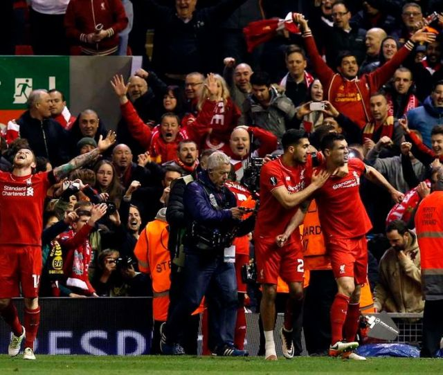 Liverpool   Borussia Dortmund   On Agg Europa League Reaction Recap Re Read How It All Unfolded At Anfield One Year On Liverpool Echo