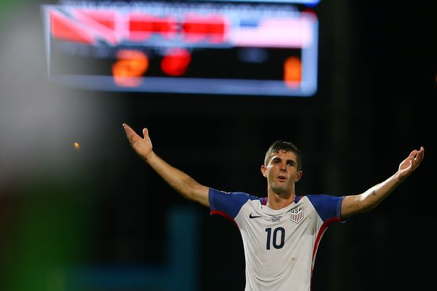 Christian Pulisic in action for the United States