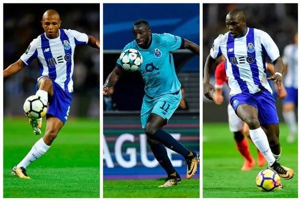 FC Porto dangermen Yacine Brahimi, Moussa Marega and Vincent Aboubakar