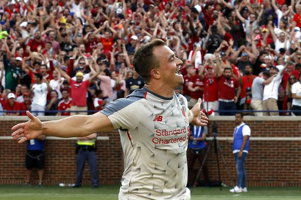 Liverpool Fcxherdan Shaqiri On Scoring Against Manchester United Rooming With Andy Robertson And Playing For Jurgen Klopp
