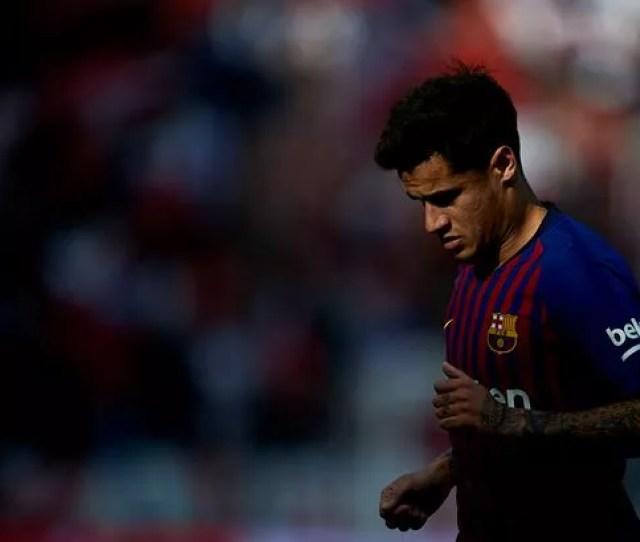 Philippe Coutinho Of Fc Barcelona Looks On During The La Liga Match Between Sevilla Fc And Fc Barcelona At Estadio Ramon Sanchez Pizjuan Image Aitor