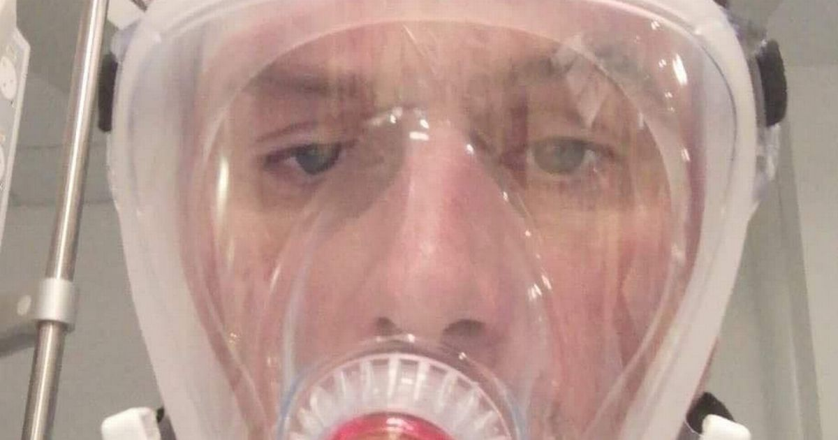 The fireman dies almost after locking popcorn between his teeth