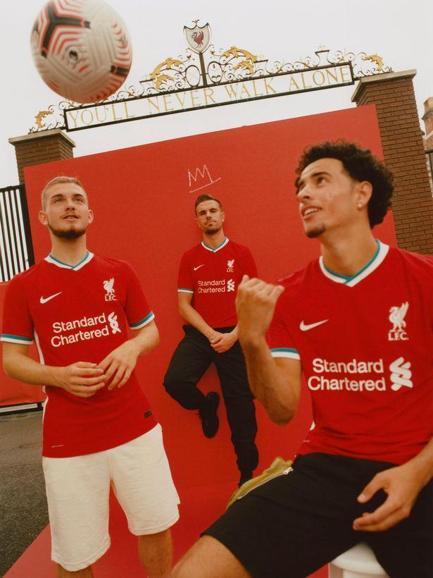 Liverpool stars wear new Nike home shirt