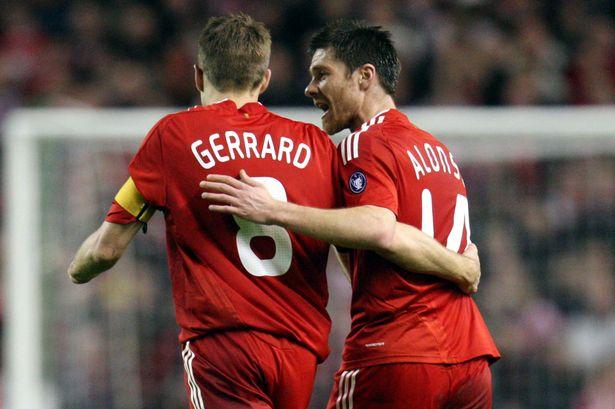 Kết quả hình ảnh cho Gerrard & Xabi Alonso