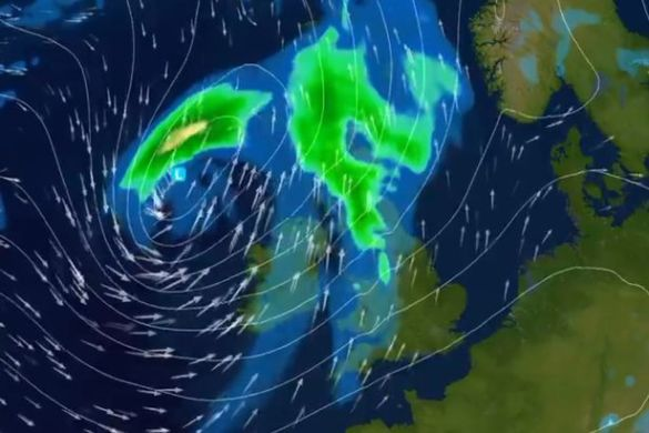 Storm Hector triggers flying debris and dangerous conditions as     An amber weather warning for high winds is in place across parts of Northern  Ireland until 9am this morning