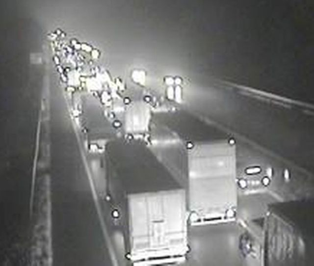 Traffic Queueing On The M Following The Closure Image Traffic England