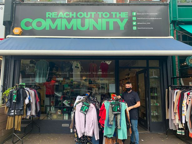 Becky Elliot, Manager, stands outside Reach to the Community Chorlton