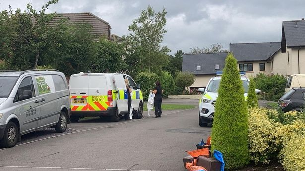 There was a significant police presence in the Broadland area of Burgundy on Thursday.