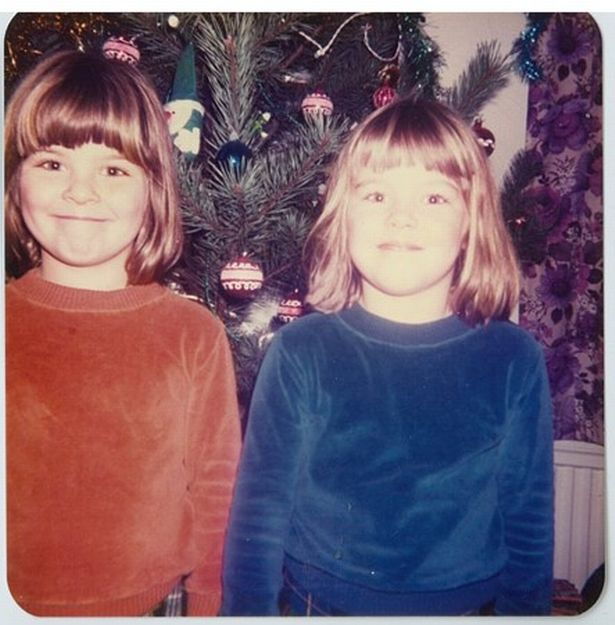 Becky (left) and Sarah (right) in 1982.