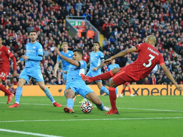 This photo is far more forgiving than the reality of the chance, Fabinho missed. | Premier League Review: Matchday 7