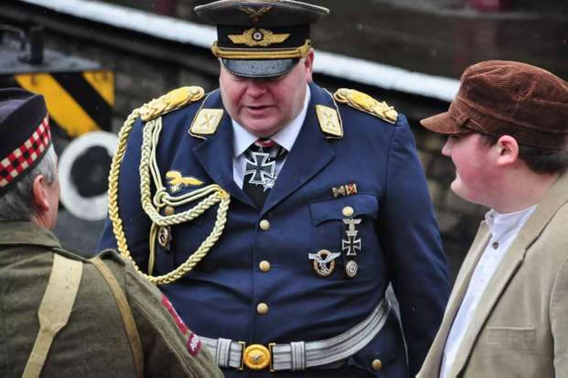 Nazi Uniforms At Wartime Weekend In Ramsbottom In