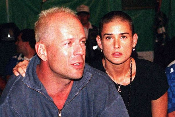 July 1996: Bruce Willis and his wife Demi Moore an Olympic boxing match in Atlanta.