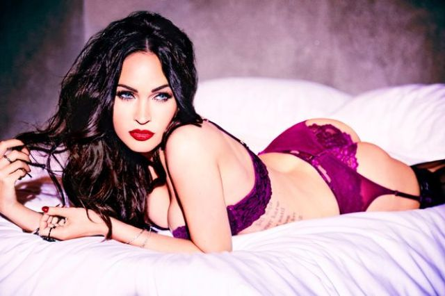 Megan Fox is smoking hot in white lace lingerie