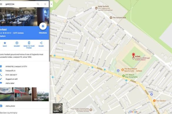 The cheeky Google Maps search which will give football fans  NOT     It is not known who is behind the  glitch   Image  Google Maps