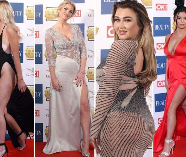Thongs Thigh Splits And No Underwear Danielle Sellers Lauren Goodger And Sarah Harding Lead The Stars Daring To Bare At Ok Beauty Awards